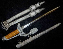 Nazi Army Officer's Dress Dagger by WKC with Hangers and Portapee...$595 SOLD