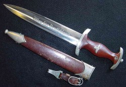 "Nazi SA ""Ground Roehm"" Dagger by J.A. Henckels with Short Hanger...$585 SOLD"
