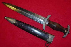 Nazi SA Dagger by Scarce Maker Karl Tiegel...$275 SOLD