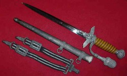 Nazi Luftwaffe Officer's Dagger by Carl Julius Krebs with Hangers and Portapee...$675 SOLD