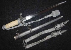 Nazi Army Officer's Dagger by Alcoso with Deluxe Hangers and Portapee...$595 SOLD