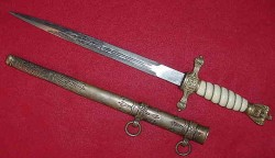 Nazi Kriegsmarine Officer's Dress Dagger by Paul Weyersberg...$525 SOLD