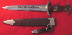 Nazi SA Dagger by Gebruder Heller with Hanger Clip...$495 SOLD