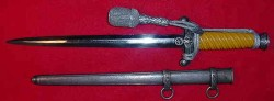 Nazi Army Officer's Dress Dagger by Paul Weyersberg with Portapee...$495 SOLD