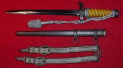 Nazi Army Officer's Dagger with Hangers and Portapee...$585 SOLD