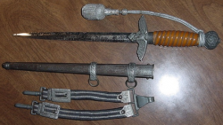 Nazi Luftwaffe Officer's Dagger by Robert Klaas with Hangers and Portapee...$375 SOLD
