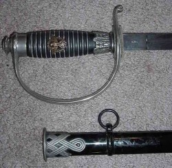 Nazi Police Officer's Sword with SS Runes Marking...$795 SOLD