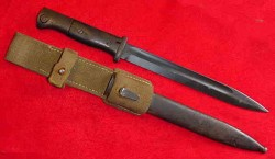 Nazi K98 Rifle Bayonet S/173G with Matching Numbers and Tropical Web Frog...$275 SOLD