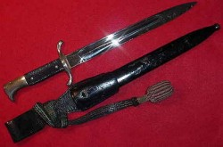 Nazi Fire Police Dress Bayonet with Frog and Knot...$115 SOLD