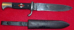 Nazi Hitler Youth Knife by C. Lutters & Co., Solingen...$195 SOLD