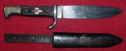 Nazi Hitler Youth Knife by Kuno Ritter, Solingen-Grafrath...$275 SOLD