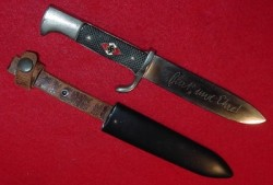 Nazi Hitler Youth Knife with Motto by Anton Wingen Jr...$350 SOLD