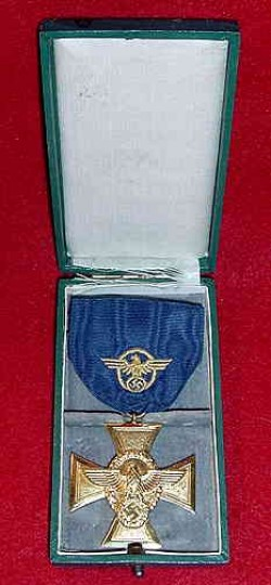 Nazi Police 25-Year Long Service Award in Case...$160 SOLD
