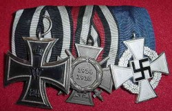 Nazi / Imperial German Medal Bar...$150 SOLD