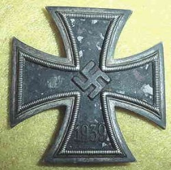 Nazi Iron Cross 1st Class with Vaulted Shape...$195 SOLD