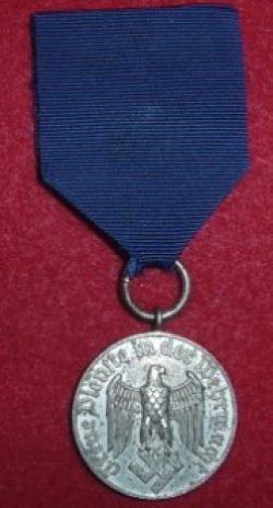 Nazi Wehrmacht 4-Year Long Service Medal...$85 SOLD