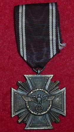 Nazi NSDAP 10-Year Long Service Medal...$115 SOLD