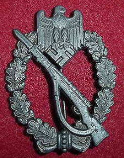 "Nazi Silver Infantry Assault Badge Marked ""L/56""...$175 SOLD"