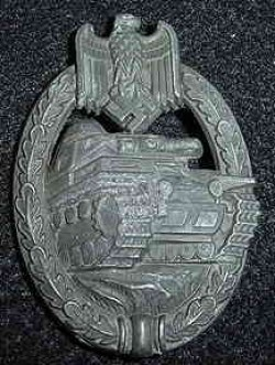 Nazi Panzer Assault Badge...$125 SOLD