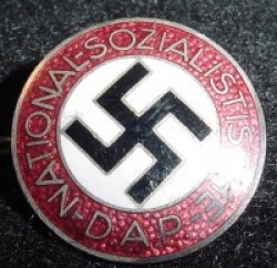 "Nazi NSDAP Party Pin marked ""RZM M1/6""...$75 SOLD"