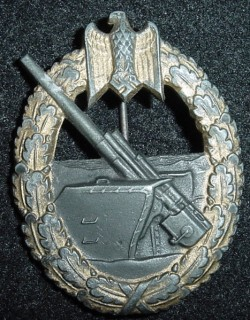 Nazi Kriegsmarine Coastal Artillery War Badge...$195 SOLD
