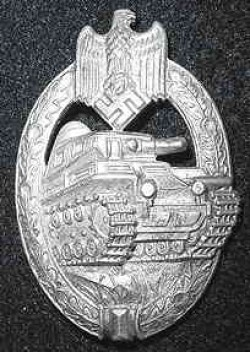 Nazi Panzer Assault Badge in Silver by A.S...$225 SOLD