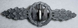 Nazi Luftwaffe Heavy, Medium and Dive Bomber's Squadron Clasp in Silver...$250 SOLD