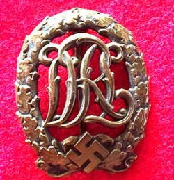 Nazi DRL Sports Badge in Bronze...$65 SOLD