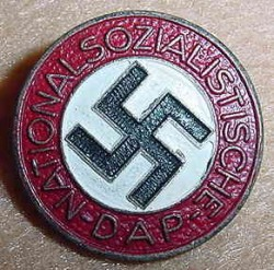 Nazi Later War NSDAP Party Pin...$45 SOLD