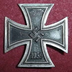 "Nazi Iron Cross 1st Class Marked ""L59"" with Square...$210 SOLD"