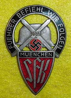 Nazi SFK Sudetendeutsches Freikorps Badge...$350 SOLD