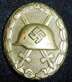 Nazi Gold Wound Badge...$215 SOLD