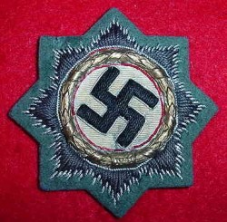 Nazi German Cross in Gold (Cloth Version) - Army Issue...$450 SOLD