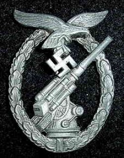 Nazi Luftwaffe Flak Artillery War Badge...$125 SOLD