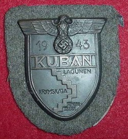 Nazi Kuban Campaign Sleeve Shield...$135 SOLD