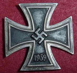 "Nazi Iron Cross 1st Class Marked ""L/13""...$250 SOLD"