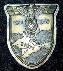 Nazi Krim Campaign Shield with Back Plate...$115 SOLD