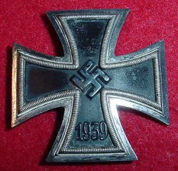 "Nazi Iron Cross 1st Class Vaulted Marked ""26""...$275 SOLD"