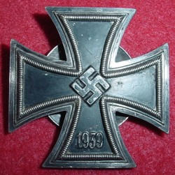 Nazi Iron Cross 1st Class Marked L58 with Screwback...$350 SOLD