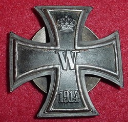 "WWI German Iron Cross 1st Class 3-Piece Badge Marked ""800"" Fine Silver...$495 SOLD"