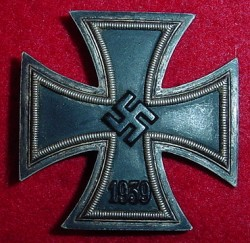 Nazi Iron Cross 1st Class by Steinhauer & Luck...$275 SOLD