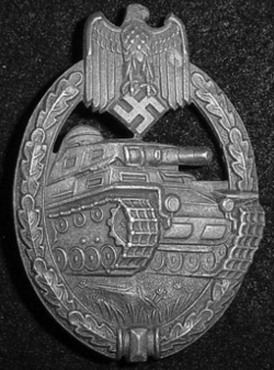 Nazi Silver Tank Assault Badge by Friedrich Linden...$225 SOLD