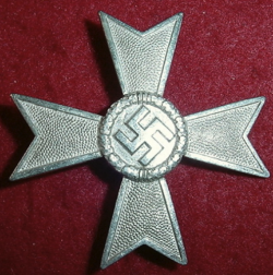 Nazi War Service Cross 1st Class with Numbered Pin...$130 SOLD