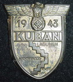 Nazi Kuban Campaign Sleeve Shield...$70 SOLD