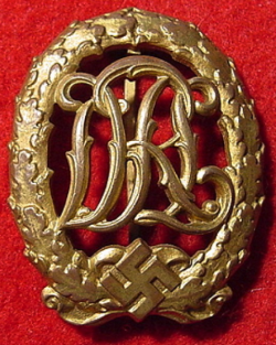 Nazi DRL Sports Badge in Gold...$150 SOLD