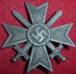 Nazi War Service Cross 1st Class with Swords by Wilhelm Deumer, Ludenscheid...$110 SOLD