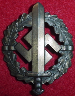 Nazi SA Sports Badge in Bronze with Serial Number...$70 SOLD