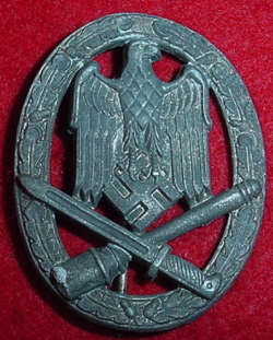 Nazi General Assault Badge...$95 SOLD