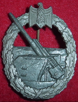 Nazi Kriegsmarine Coastal Artillery Badge...$150 SOLD