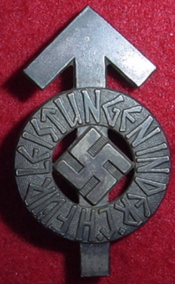 Nazi Hitler Youth Leistungen Badge with Serial Number...$75 SOLD